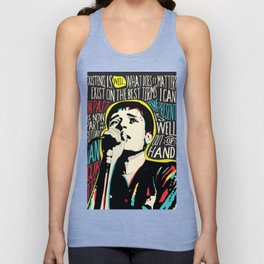 Ian Curtis Pop Art Quote / Joy Division Unisex Tank Top
