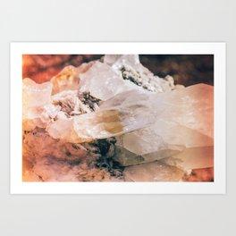 Dreamy Large Quartz Crystals Art Print