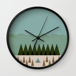 In the Middle of Nowhere Wall Clock