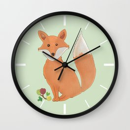 Fox and gooseberry Wall Clock
