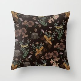 Forest Elements Throw Pillow
