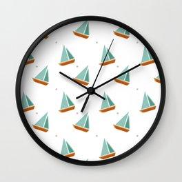 Lazy Days and Sailboats Wall Clock