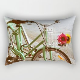MINTY BIKE Rectangular Pillow