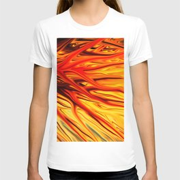 Orange Firethorn by Chris Sparks T-shirt