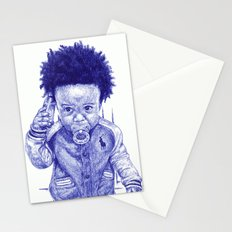 Afro Kid Stationery Cards