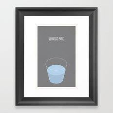 Jurrasic Park minimalist poster Framed Art Print