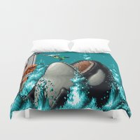 snk Duvet Covers featuring Don't Let Go by VGPrints