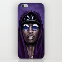 swag iPhone & iPod Skins featuring Purple Swag by Andrea Mangiri