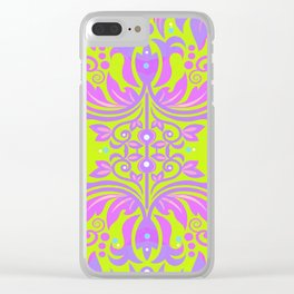 Vintage Psychedelica Groovy Boho Rococo Baroque Floral Clear iPhone Case