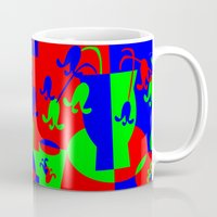 leah flores Mugs featuring Flores by DARWIN STEAD