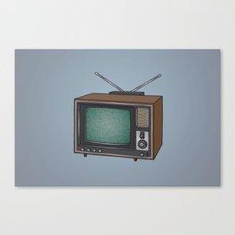 Television set TV Canvas Print