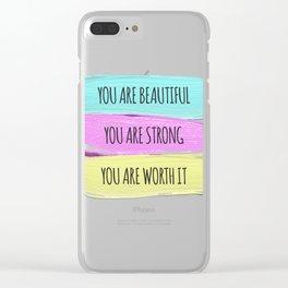 Self Worth Love Clear iPhone Case