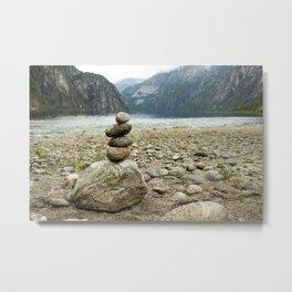 meditation stones in Norway  | nature photo | fine art photo print | travel photography Metal Print