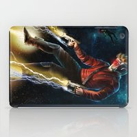 thanos iPad Cases featuring Star Lord saves Gamora by Jaime Gervais