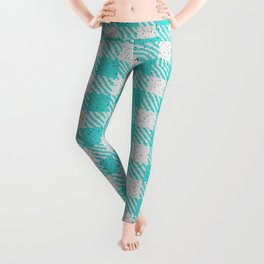 Medium Turquoise Buffalo Plaid Leggings
