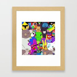 Cartoon characters Framed Art Print