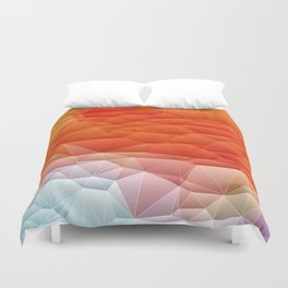 Quilted Pattern Orange Texture Abstract Duvet Cover
