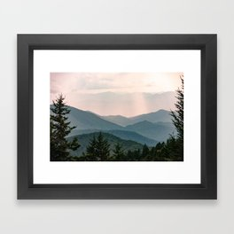 Smoky Mountain Pastel Sunset Framed Art Print