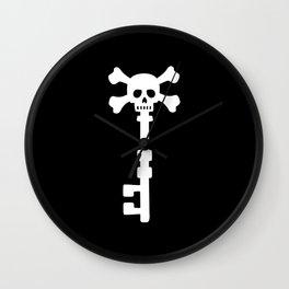 Pirate Treasure Key Wall Clock