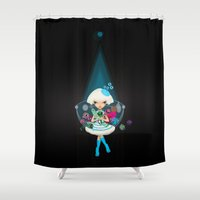 hunter Shower Curtains featuring hunter by Anne  Martwijit