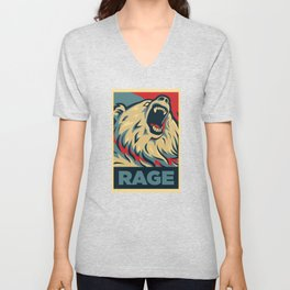 RageBear For President Unisex V-Neck