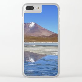 Volcano Reflections in the Bolivian Desert Clear iPhone Case