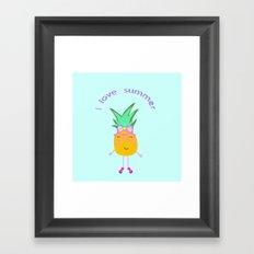Cute Hipster Pineapple Framed Art Print