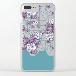 Tropical Fluo Tiles #society6 #decor #buyart Clear iPhone Case