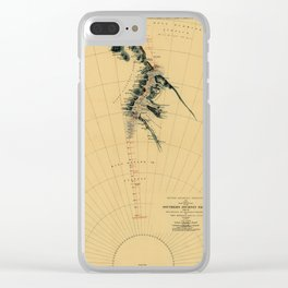 Map of Antarctic 1909 Clear iPhone Case
