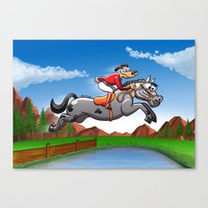 Olympic Equestrian Jumping Dog Canvas Print