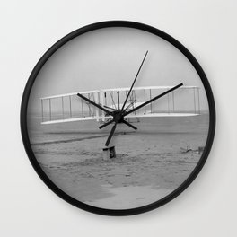 Wright Brothers First Flight Wall Clock