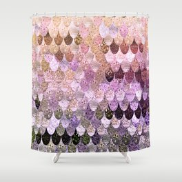 SUMMER MERMAID MOONSHINE  GOLD 2 Shower Curtain