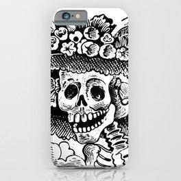 Vintage Woman Skull Halloween iPhone Case