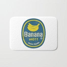 Banana Sticker On White Bath Mat