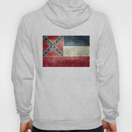 Mississippi State Flag - Distressed version Hoody