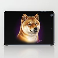 shiba inu iPad Cases featuring Shiba Inu by Colour Pup