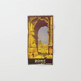 Vintage poster - Rome Hand & Bath Towel