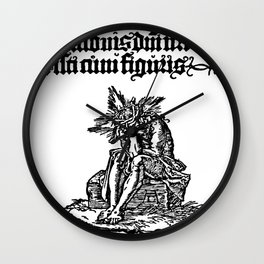 Small Passion: Man of sorrow Wall Clock