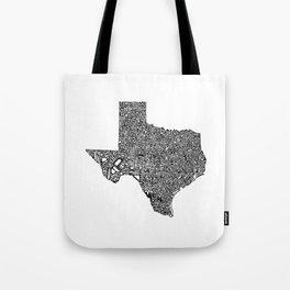 Typographic Texas Tote Bag