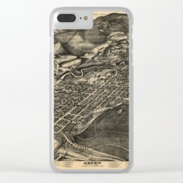 Bird's Eye View of Aspen, Colorado (1893) Clear iPhone Case