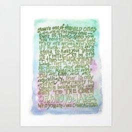 Wild One-colors Art Print