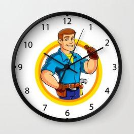 Handyman and Work Tool Wall Clock