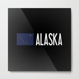 Alaska: Alaskan Flag & Alaska Metal Print