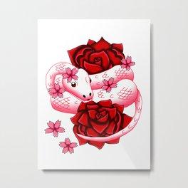 Snake Piece #13 - Red Eyed Romantic Metal Print