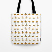 pie Tote Bags featuring Pie by nicolaporter