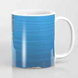 Egret At The Rocks Coffee Mug