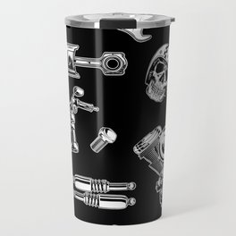 Cafe Racer Pattern Travel Mug