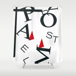 Abstract Shapes I Letters Shower Curtain