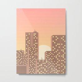 Sunrise in The City Metal Print