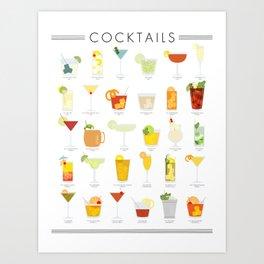 Cocktail Poster Art Print